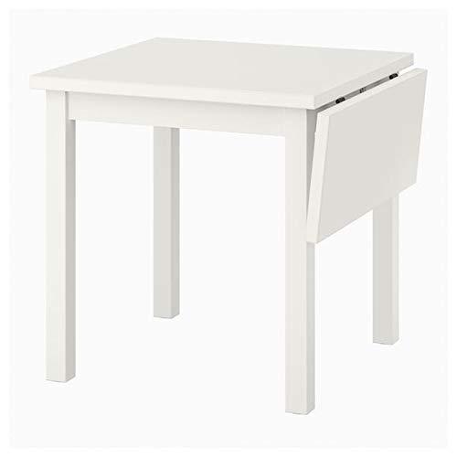 MSAMALL NORDVIKEN - Mesa de mesa de hojas de 74/104x74 cm, resistente y fácil de cuidar, hasta 4 asientos, mesas de comedor, escritorios, muebles, respetuoso con el medio ambiente.