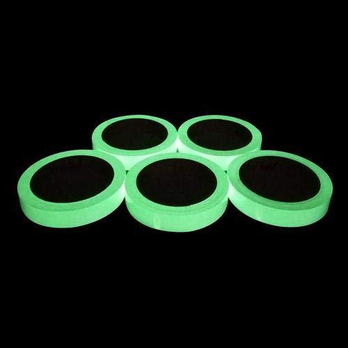 Fluoreszierendes Klebeband,2 * 100cm Phosphor Markierungsband Leuchtendes Band, Nachtleuchtend Selbstklebendem Wasserdicht Luminous Tape Warnband Bühnenbedarf