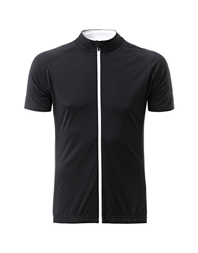 2Store24 Men's Bike-T Full Zip in Black/White Größe: L