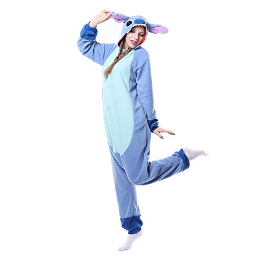 ROYAL WIND Adults Onesie Halloween Costumes Sleeping Wear Pajamas Small Blue