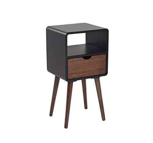Wholesaler GmbH Vintage Nachttisch Kolonialstil 30 x 35 x 70 cm mit Schublade aus Holz - Telefontisch Beistelltisch Nachtschrank