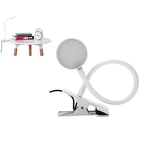 Make Up Tattoo Lámpara LED con soporte, lámpara de mesa de salón, lámpara de abrazadera LED, lámpara de lectura, lámpara de escritorio, lámpara de mesa, USB para trabajos de precisión(plata)