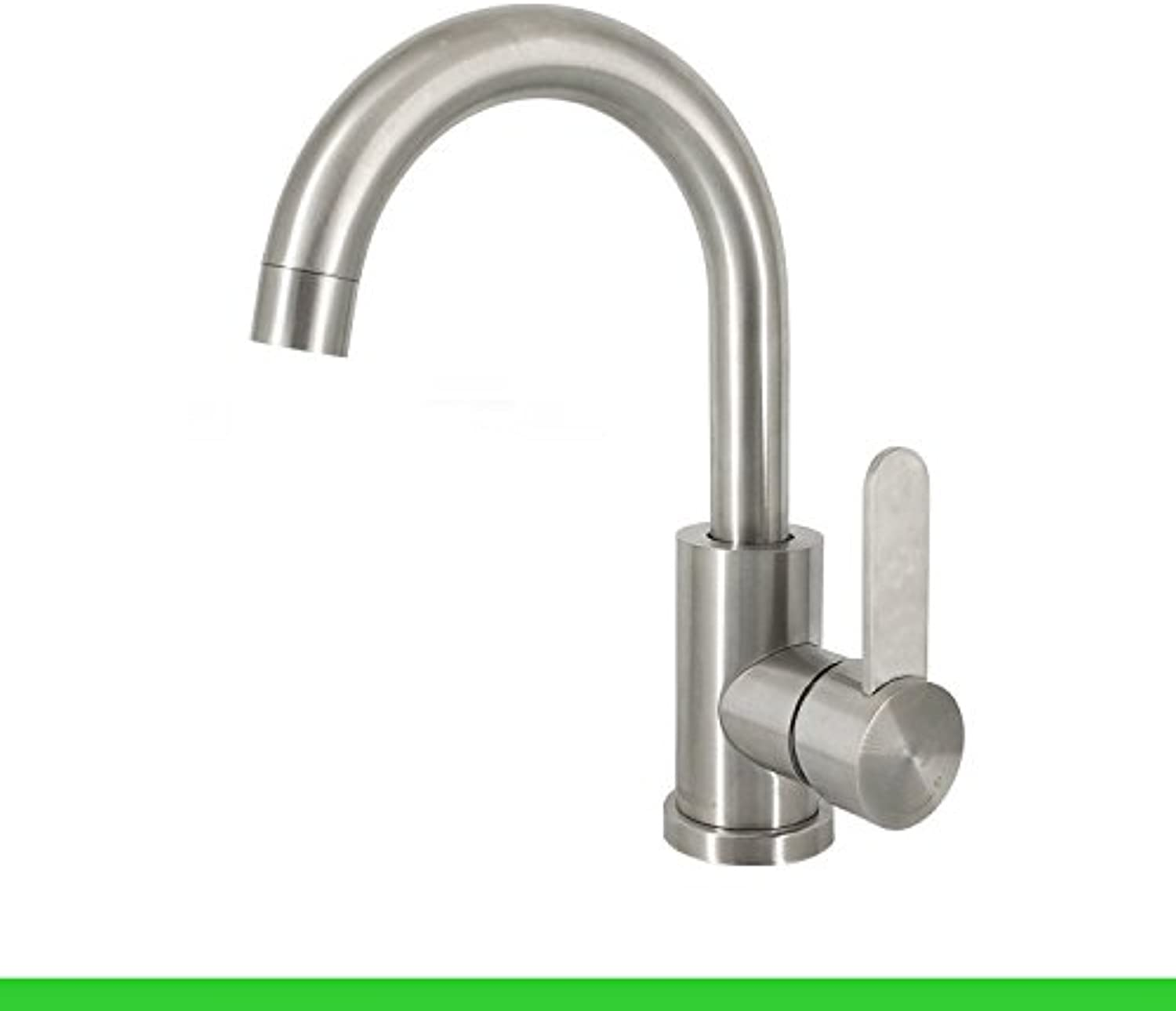 JWLT 304 stainless steel wire drawing lead-free basin, hot and cold water basin, hand basin potable basin, single hole can be redated,304- cold and hot small bend - no inlet pipe