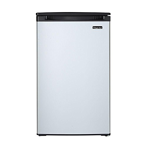 Magic Chef 4.4cu ft Mini Refrigerator with Freezerless Design in Stainless Steel
