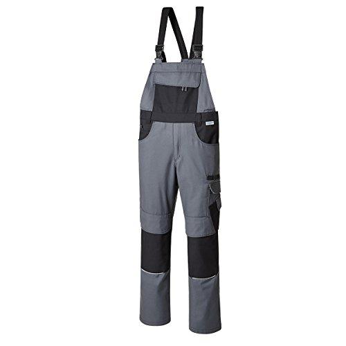 Pionier ® workwear XXL Latzhose grau/schwarz, deutsche Größe:58