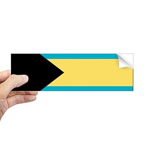 DIYthinker De Bahama's Nationale Vlag Noord-Amerika Land Rechthoek Bumper Sticker Notebook Window Decal