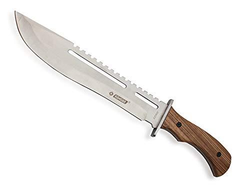 KOSxBO® XXL Outdoor Messer mit Säge 40,5 cm Full Tang Messer Holzgriff Arbeitsmachete - Buschmesser Machete - Survival Machete inklusive Nylontasche