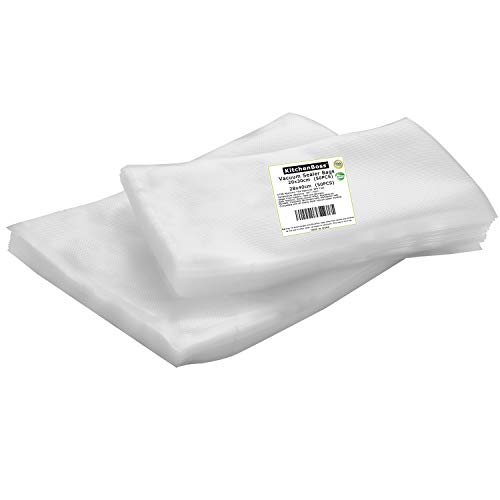 For Sale! Vacuum Sealer Bags,Food Saver Bags 50 of Each Size 8x12 Quart and 11x16 Gallon,Sous Vi...