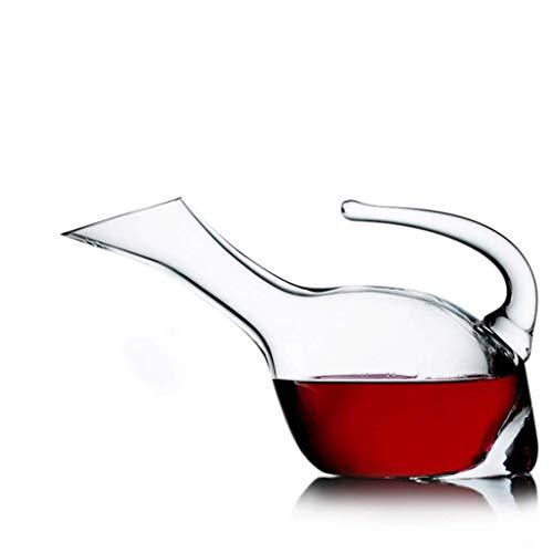 Carafe à Vin Creative Classic 1,25 L Avec Poignée - Verre En Cristal Sans Plomb Soufflé à La Main, Carafe Pour Vin Rouge, Cadeau Pour Le Vin, Accessoires Pour Le Vin, Aérateur de Vin, Bouteille de Whi