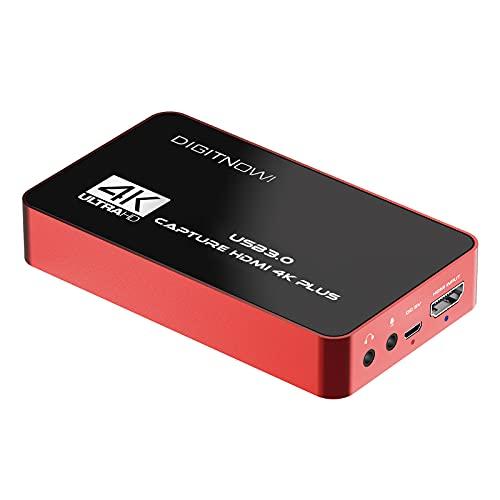 4K Plus Capturadora De Video, HD 60S USB 3.0,1080P 60FPS o 4K Captura de Video de Audio HDMI Sin retardo para grabación de Video, transmisión en Vivo, Compatible con Windows, Mac, Linux