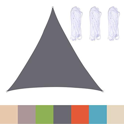 GAOZ Voile d'Ombrage Triangle Respirante, Toile Tendue Epaisse & Résistante Intempéries, Voile Imperméable,pour Extérieur/Terrasse/Jardin 2.4m x 2.4m x 2.4m