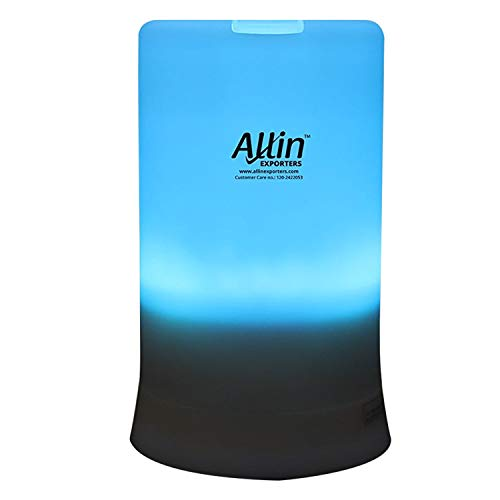 Allin Exporters DT-2109 Cool Mist Ultrasonic Humidifier Aroma Diffuser with 4 Timer Setting and 7 Color LED Lights (100 ML Tank Capacity)