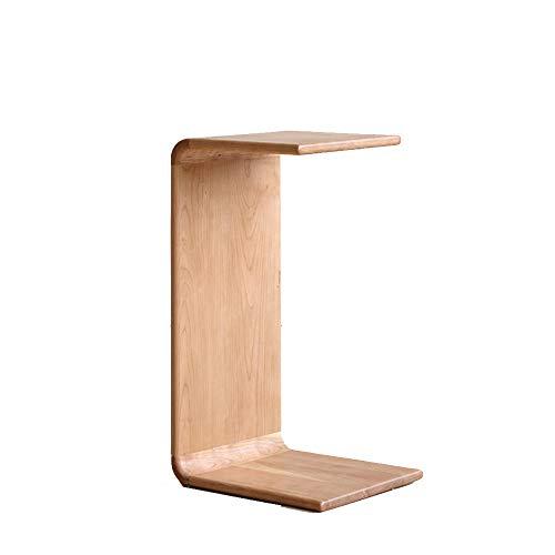 WSAD La Série Originale en Bois Massif Circulaire Pointe Plusieurs Table De Chevet Sofa Compagnon Petit Thé Tableau, 35X30X62Cm,Le Chêne Rouge
