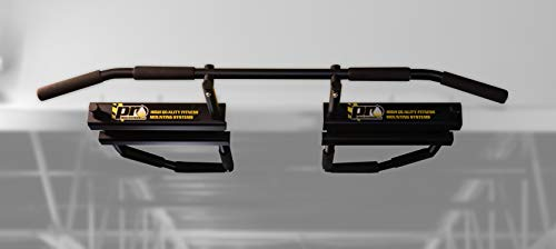PRO Mountings I-Beam Pull Up Bar Black w/Long Bent Bar 5-Grip