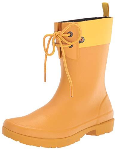 BOGS Flora 2-Eye Boot Mustard 6 B (M)