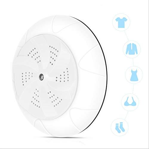 Jaina Mini portátil Turbo eléctrico automático Lavadora Lavadora de lavandería doméstica pequeña ultrasónico Turbo Viajes (Color : White)
