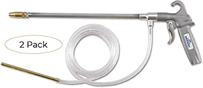 Guardair Pneumatic Syphon Solvent Spray Gun 79SG012 with 12-Inch Aluminum Extension and Brass Nozzle