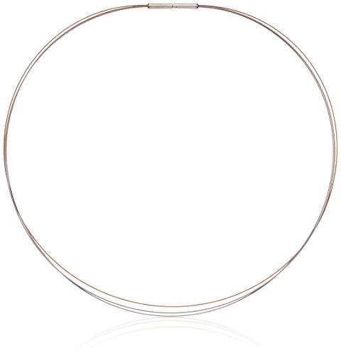 Boccia Damen-Collier 3-Fach Edelstahl teilvergoldet 42.0 cm - 0804-0342