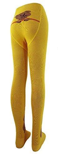 Baby Strumpfhose Motiv Teddy viele Farben Farbe: gelb, Größe: 98/104