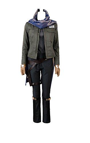Bilicos Rogue One: A Story Jyn Erso Stardust Outfit Cosplay Kostüm Grau Damen XL