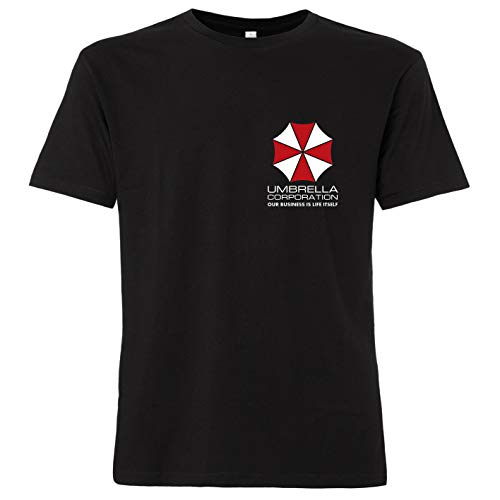 OutlawTex - Umbrella Corporation Brustlogo - Herren T-Shirt Schwarz 4XL