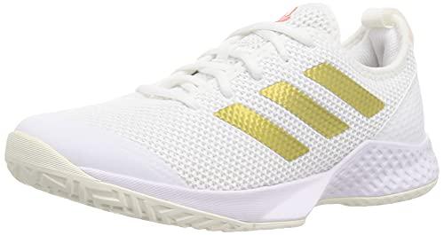 adidas Court Control W, Zapatillas Deportivas Mujer, FTWBLA/Dormet/Rojsol, 41 1/3 EU