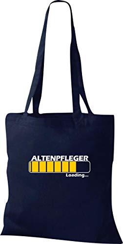 Shirtinstyle Stoffbeutel Jute, Loading Altenpflege Beruf Tasche Shooper Kollegen, Navy
