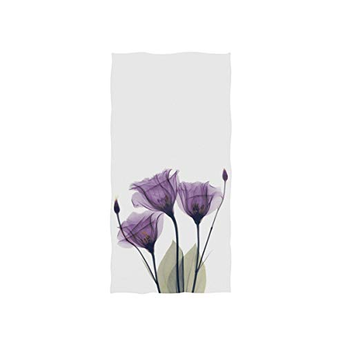 Lavender Hand Towel Iris Purple Hope Flowers Dish Towels Cotton Face Towel Bath Decor Set for Girls 30x15 inch Gym Yoga Towels for Mothers Day