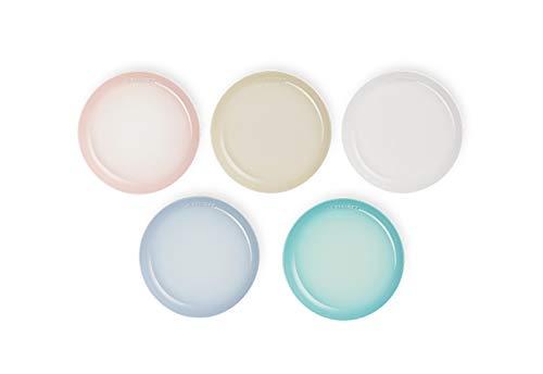 ル・クルーゼ(Le Creuset) 皿 セットスフィア・プレート22 cmパステルレインボー 5個 入り 【日本正規販売品】