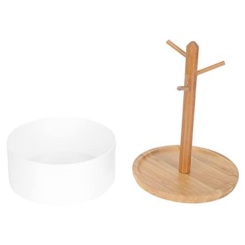 Beaupretty Soporte de Arete de Madera Organizador Soporte de Exhibición de Pendientes Soporte de Árbol de Joyería Estante Organizador de Pendientes de Torre para Collares Pulseras para El