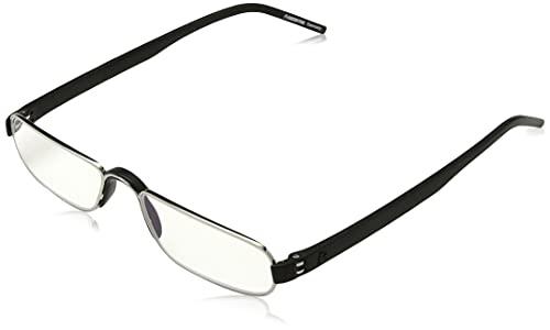 Rodenstock Unisex Lesebrille ProRead R2180, Lesehilfe bei Weitsichtigkeit, Brille mit leichtem Edelstahlgestell (+1 / +1,5 / +2 / +2,5), Grau, +2,0