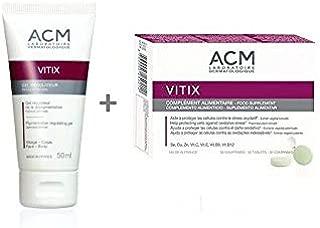 Acm laboratoire vitix gel + vitix tab, set vitiligo skin 50ml vitiliginous skin Gift For Treatment Your Skin