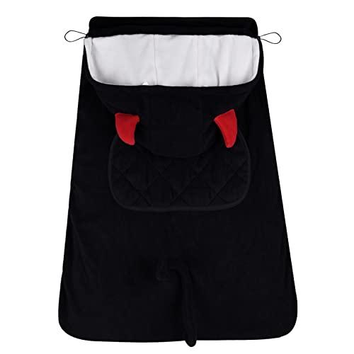 Bebamour Universal Hoodie All Seasons Funda para portador de bebé Cubierta para invierno cálido(Black)