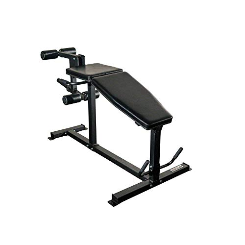 Titan Fitness Plate Loaded Lying Prone Hamstring Curl and Leg Extension Machine