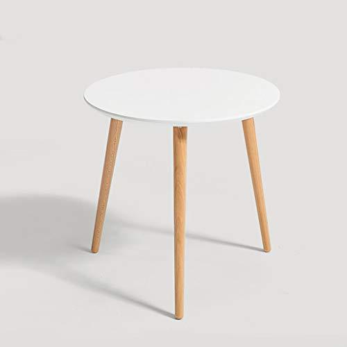 Tavolini da caffè Mini Mesa minimalista nórdica Mesa de café Mesa de café Balcón Balcón Pequeña mesa redonda, mesa de extremo lateral moderno Pequeña Mesa de café redonda Lámpara de sofá Mesa de noche