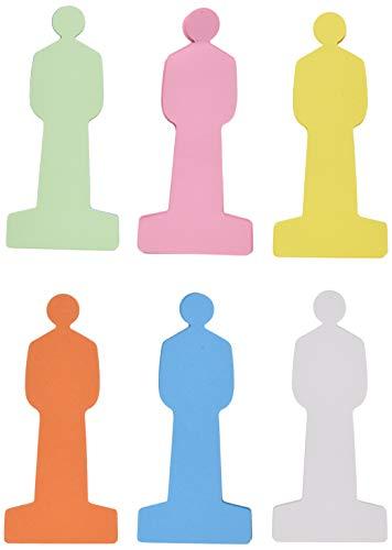 Maul Moderationskarten mensch, 90 x 200 mm, 150 g/m² Papier, beidseitig verwendbar, farbig sortiert, 120 Stück