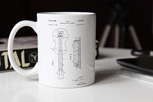 Gibson Les Paul Gitaar Patent Mok Elektrische Gitaar Teen Jongens Kamer Decor Gitaar Mok Muziek Decor Mgg0140