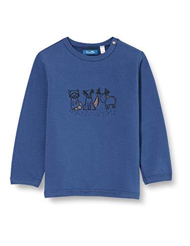 Sanetta Sweatshirt Faded Denim Maglia di Tuta, Blau, 92 Bambino