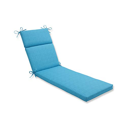 Pillow Perfect Outdoor Veranda Turquoise Chaise Lounge Cushion,72.5 in. L X 21 in. W X 3 in. D,Blue