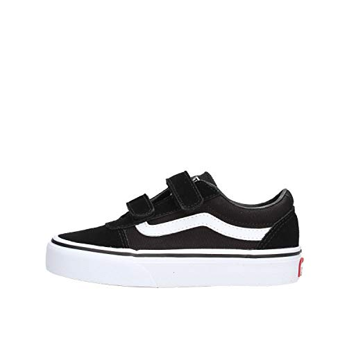 Vans Ward V-Velcro, Sneaker Unisex Adulto, Negro ((Suede/Canvas) Black/White Iju), 44.5 EU