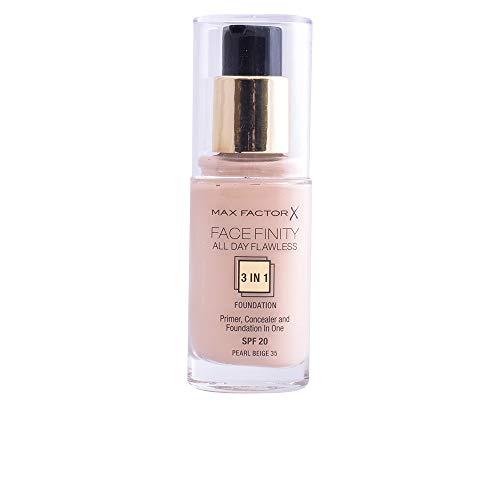 Max Factor FaceFinity 3 en 1 All Day Flawless Base de Maquillaje Tono 035 Peral - 30 ml