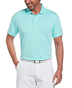 PGA TOUR Mens Airflux Solid Mesh Short Sleeve Golf Polo Shirt Polynya Large