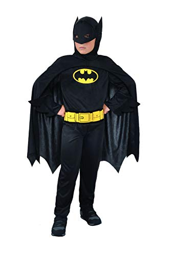 Ciao 11670.5-7 Batman Dark Knight - Disfraz de Batman para Niños (Talla 5-7 Años), Color