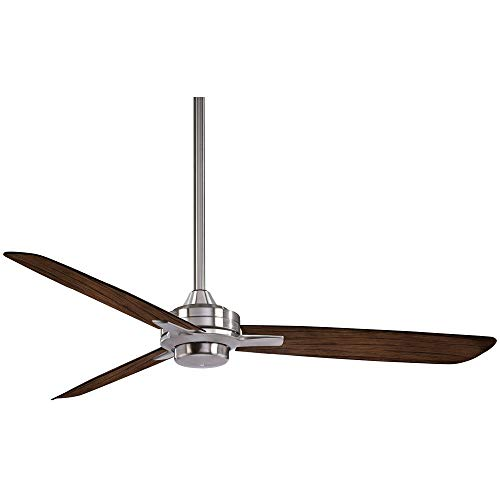 """Minka-Aire F727-BN/MM, Rudolph 52"""" Ceiling Fan, Brushed Nickel Finish with Medium Maple Blades"""