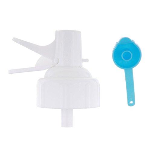Homyl Robinet d'eau Distributeur Barrel Boucle Robinet Remplacement Buse Chapeau Pique-Nique - Blanc, 10x9cm avec Housse Anti-poussière
