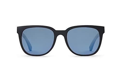 TAKE A SHOT – Eckige Holz-Sonnenbrille Herren, Holz-Bügel, Kunststoff-Rahmen, UV400 Schutz, rückentspiegelte Gläser, Filch