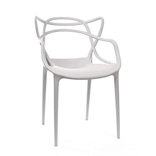 Design Lab MN Indoor Outdoor Dining Chair, Set of 4, Platinum