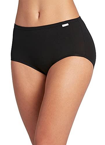 Jockey Women's Underwear Supersoft Brief - 3 Pack, Black, 7