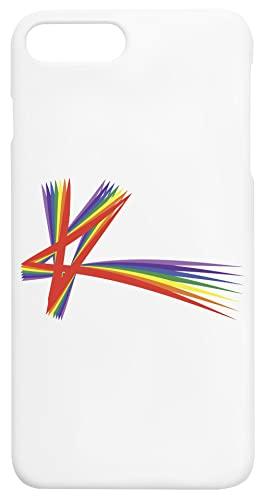 K Orgoglio Stella Arcobaleno Iphone 7+, 8+ Protettivo Cabina Telefonica Protective Phone Case