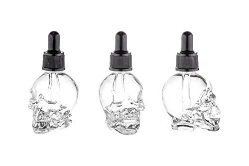 casavetro 6 x Glas-Pipette-Flasche Mini klein Liqued 50 ml Totenkopf Elektro Zigaretten Behälter (6 x 50 ml)